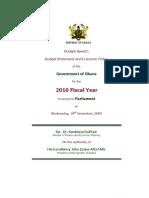 Ghana Budget Speech 2010