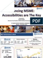 Financing MSME Accessibilities Are the Key