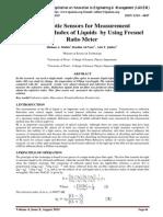 Fiber optic Sensors for Measurement ofRefractive Index of Liquids by Using Fresnel Ratio Meter