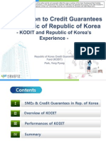 Introduction to Credit Guarantees in Republic of Korea