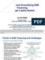 Widening and Diversifying SME Financing Through Capital Market
