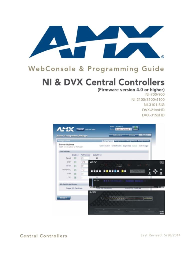 Amx Axb-dmx512 Pdf
