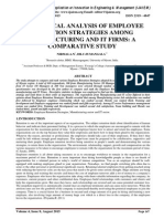 HIERACHICAL ANALYSIS OF EMPLOYEE RETENTION STRATEGIES AMONG MANUFACTURING AND IT FIRMS
