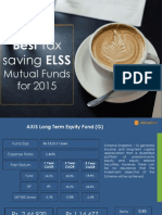 4 Best Tax Saving ELSS Mutual Funds for 2015