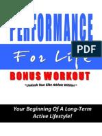 Performance for Life Free Bonus Workout