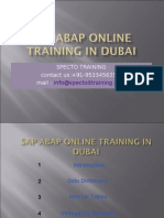Sap Abap Online Training in Dubai