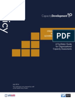 STRENGTHENING CAPACITY IN POLICY, ADVOCACY, GOVERNANCE, AND FINANCE A Facilitator Guide for Organizational Capacity Assessments