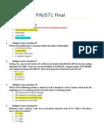 15 Fin571 Final Exam 30 Question Ver 2