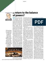 A return to a balance of powers?