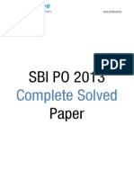 Oliveboard SBIPO 2013 SolvedPaper