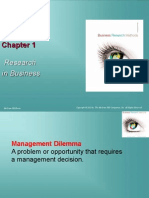 Research in Business CHAPTER 1