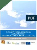 Lanaren prekarizazioari aurre egiten. Mendeko autonomoak (Alemania)