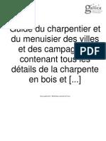 Détails de La Charpente en Bois Et en Fer-1846