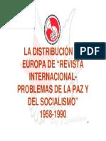 """La Distribución en Europa de """"Revista Internacional-Problemas de La Paz y del Socialismo"""" 1958-1990"""