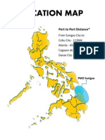 pORT OF sURIGAO Location Map