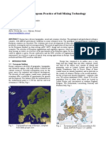 2005 Regional Report Europe soil mixing