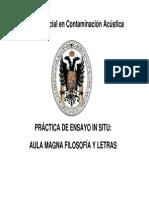 Medida Interiores Master Acústica UGR 2015