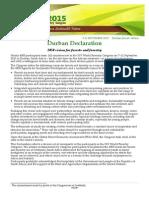 Durban Declaration Draft