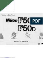 Nikon F50 SLR Manual