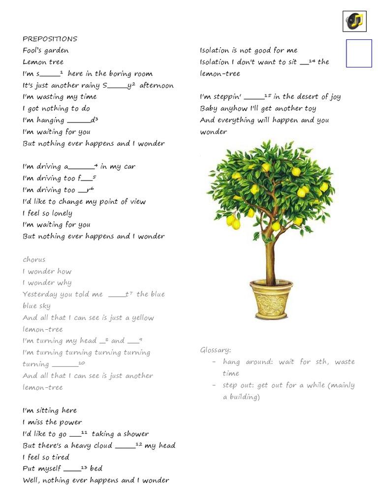 Lemon Tree Pdf