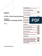C7-623, C7-624 Control Systems Volume 1 Installation, Assembly, Wiring