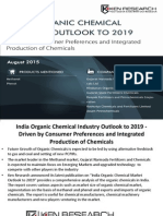 India Organic Chemical Industry Outlook to 2019 - Driven by Consumer Preferences and Integrated Production of Chemicals