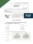 Matematica Teste Diagnostico 5º Anod