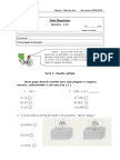 Matematica Teste Diagnostico 5º Anof