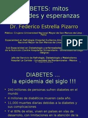 Resumen familiar moderno de la diabetes