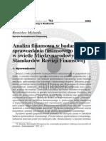 Analiza Finansowa Wg MSSF ZN Uek