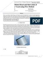 Analysis of Dished Head and Skirt Joint of Pressure Vessel using FEA Method