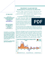 FNB Property Barometer Jul 2015 House Price Trends by Home Size