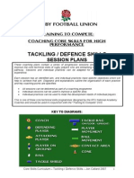 RFU - Tackling & Defence Skills Session Plans