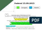 Diário Federal 15.09.2015