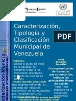 Caracterización y Tipología Municipal
