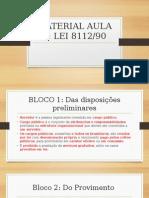 Slide sobre lei 8112/90