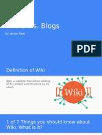 gast - wikis vs blogs