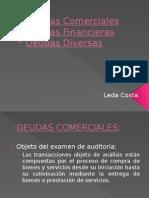 deudas comerciales, financieras, diversas