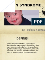 Ppt Down Syndrome
