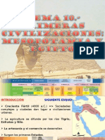 10.- Primeras Civilizaciones mia y Egipto
