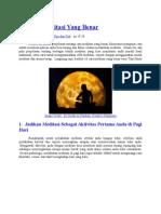 10 Cara Meditasi Yang Benar