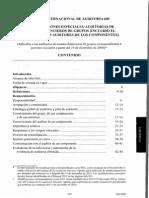 Nia 600 Consideraciones Especiales en Auditorías de Grupos