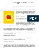 How Much Does Apple Make a DuPont Analysis