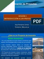 Sesion I_Introduccion Proyectos y SNIP
