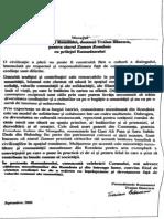 Scrisoarea lui Traian Băsescu către săptămânalul Zaman