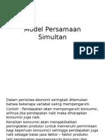 Model Persamaan Simultan