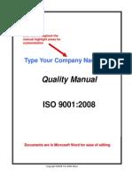 Iso 9001 Manual