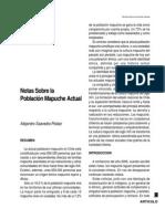 Notas Sobre La Población Mapuche Actual
