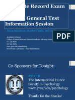 GRE General Test Fall 2014 Oct 14