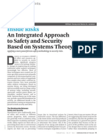 Inside Risks An Integrated Approach to Safety and Security Based on Systems Theory